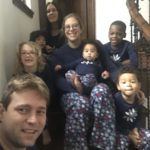 The miracle is that they stayed on the stairs long enough to take a picture!